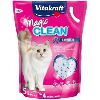 Vitakraft Magic Clean Dust Free Pearl Silica Lavender 5L Cat Litter