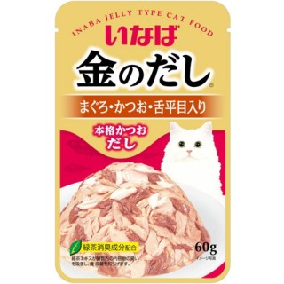 Inaba Kinnodashi Pouch Tuna with Chicken Fillet in Jelly 60g Cat Wet Food (TIC12)