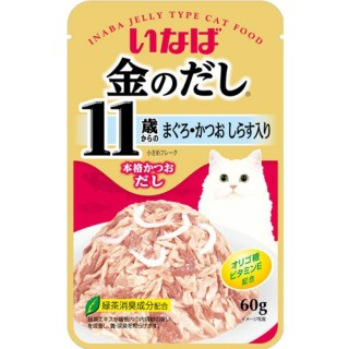 Inaba Kinnodashi Pouch Tuna Small Flake with Shirasu in Jelly 60g Cat Wet Food (IC-20)