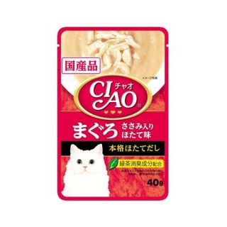 Ciao Pouch Tuna Maguro & Chicken Fillet Scallop 40g Cat Wet Food (IC-201)