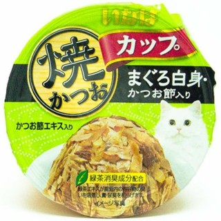 Inaba Yaki Katsuo Cup Tuna (Maguro) in Gravy Topping Sliced Bonito 80g Cat Wet Food (IMC-103)