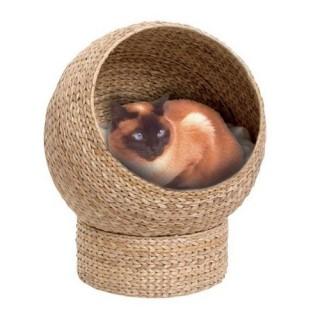 Catit Banana Leaf Den Cave Cat Bed