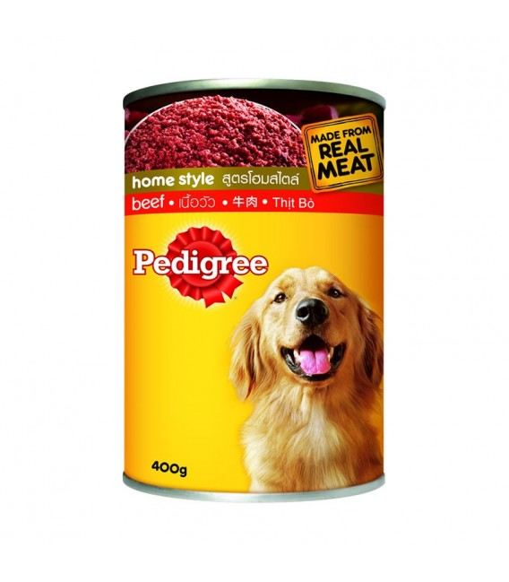 Pedigree Home Style Beef Recipe 400g Dog Wet Food