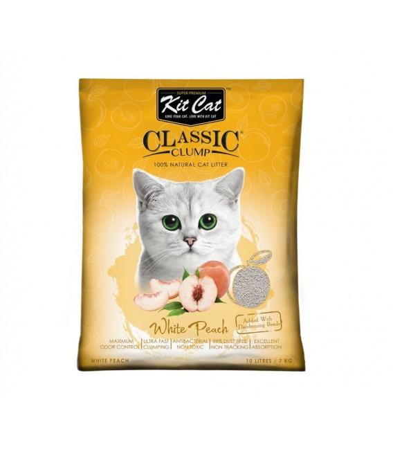 Kit Cat Classic Clump White Peach Scent 7kg Premium Cat Litter