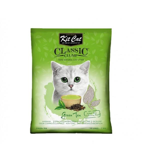 Kit Cat Classic Clump Green Tea Scent 7kg Premium Cat Litter