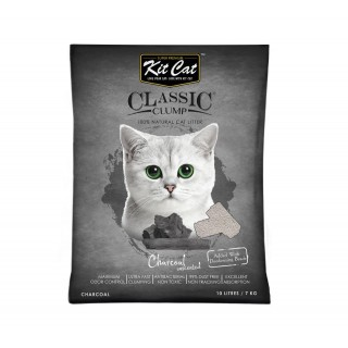 Kit Cat Classic Clump Charcoal Unscented 7kg Premium Cat Litter