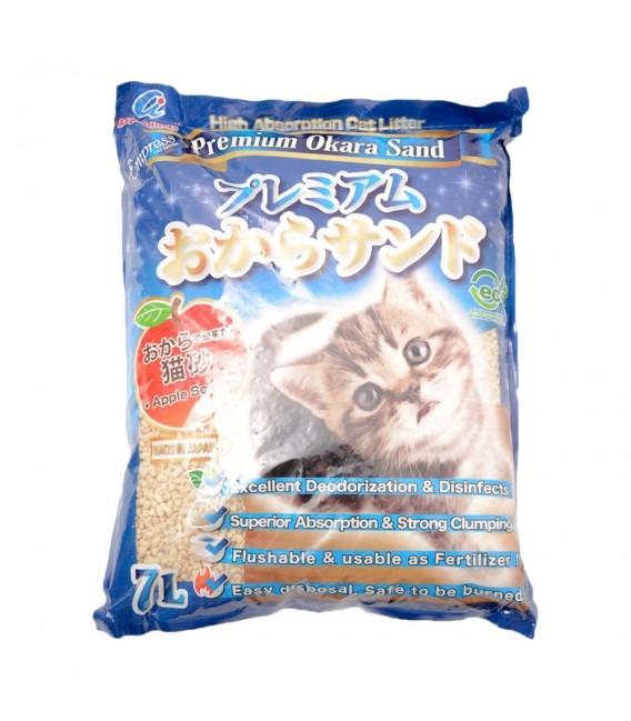 Empress Premium Okara Apple Scent 7L Flushable Cat Litter