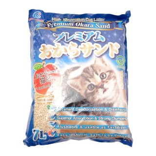 Empress Premium Okara Apple Scent 7L Flushable Cat Litter
