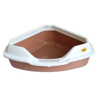 Cat Corner Litter Pan Box with Litter Scoop