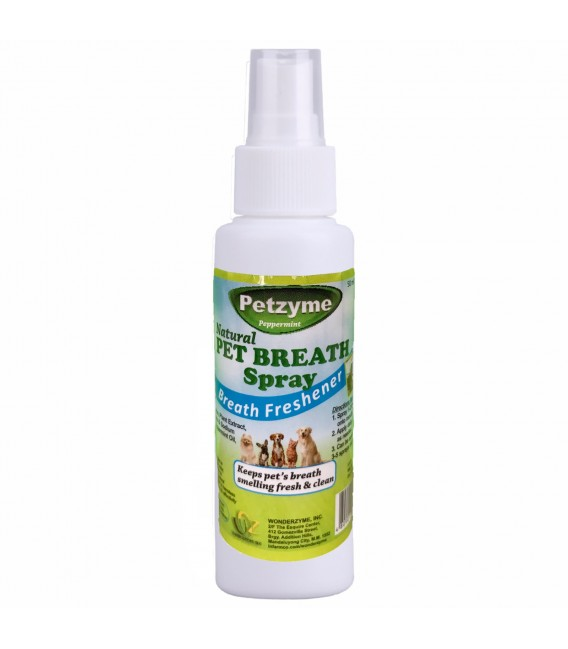 Petzyme Natural 50ml Dental Breath Spray for Dogs & Cats