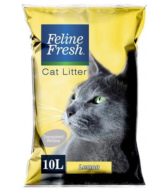 Feline Fresh Lemon Scent 10L Cat Litter