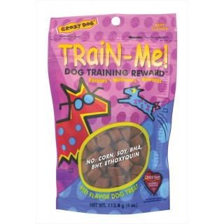 Crazy Dog Train Me Beef Flavor 113.4g Dog Treats