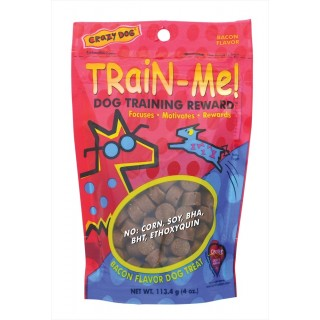 Crazy Dog Train Me Bacon Flavor 113.4g Dog Treats