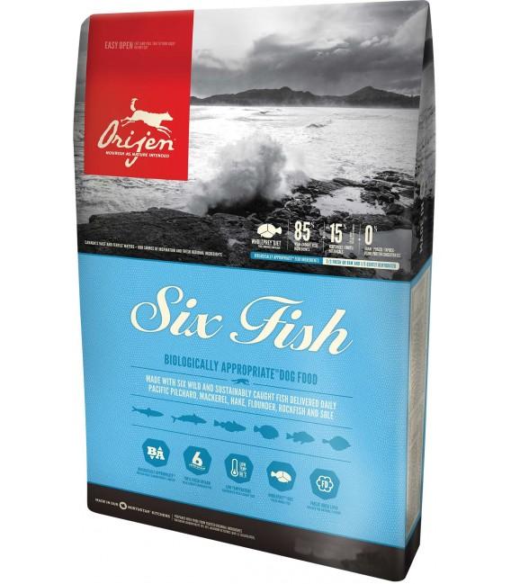 Orijen Six Fish 11.4kg Dog Dry Food