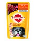 Pedigree Simmered Beef Loaf Flavour with Vegetables 130g Dog Wet Food