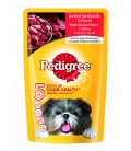 Pedigree Beef Chunks Flavour in Gravy 130g Dog Wet Food