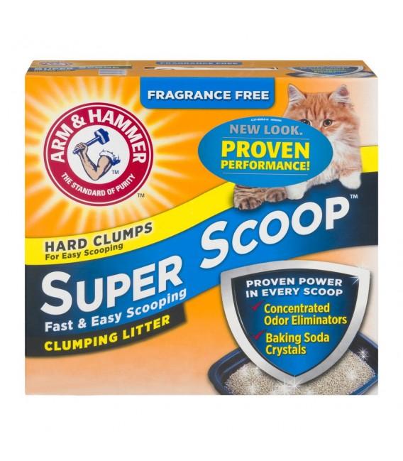 Arm & Hammer Super Scoop Fragrance Free 14 lbs (6.35kg) Cat Litter
