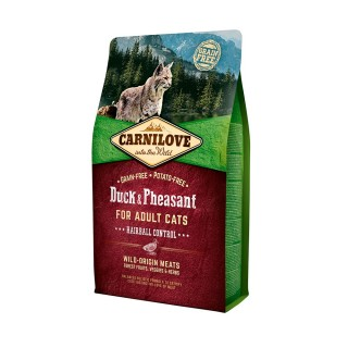 Carnilove Into The Wild Duck & Pheasant for Adult Cats Hairball Control Cat Dry Food