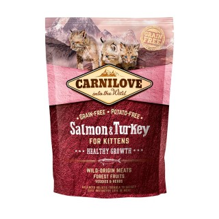 Carnilove Into The Wild Salmon & Turkey for Kittens Cat Dry Food