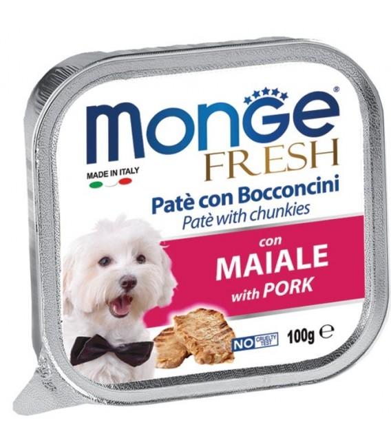 Monge Fresh Pate & Chunkies with Pork 100g Dog Wet Food