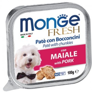 Monge Fresh Pate & Chunkies with Pork 100g Dog Wet Food