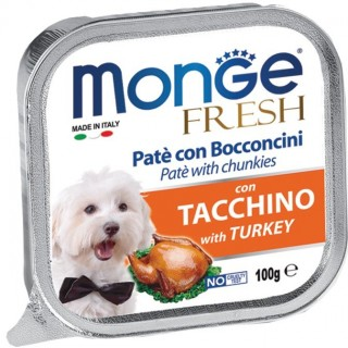 Monge Fresh Pate & Chunkies with Turkey 100g Dog Wet Food