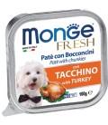 Monge Fresh Pate & Chunkies with Turkey 100g Dog Wet Food
