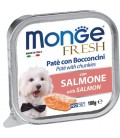 Monge Fresh Pate Salmon 100g Dog Wet Food