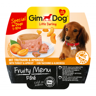 GimDog Fruity Menu Pate with Turkey & Apricot 100g Dog Wet Food