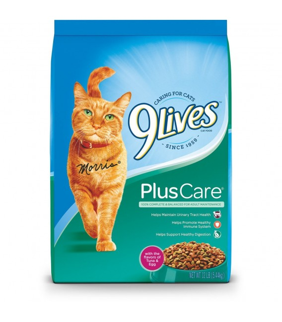 9 Lives Plus Care Grilled Tuna & egg 13.3lb (6kg) Cat Dry Food
