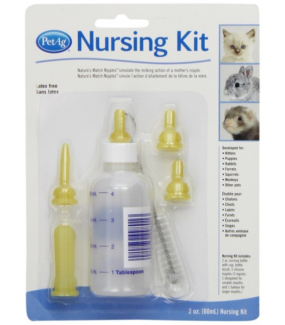 PetAg Complete Nursing Kit for Kittens and Small Animals