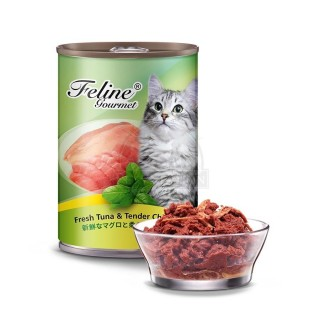 Pet Plus Feline Gourmet Fresh Tuna & Tender Chicken 400g Cat Wet Food