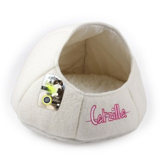 All For Paws CATZILLA NEST Cat Bed - WHITE