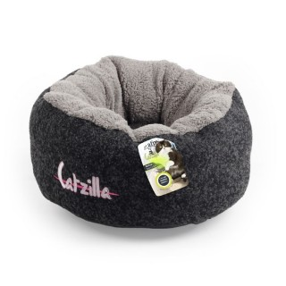 All For Paws CATZILLA MELLOW Cat Bed - BLACK