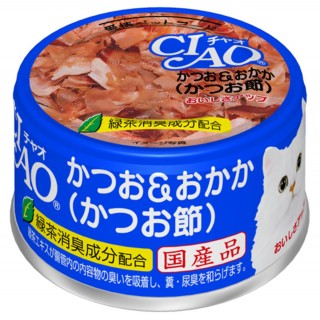 Ciao White Meat Tuna with Dried Bonito in Jelly 85g Cat Wet Food (A10)