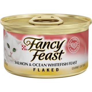 Fancy Feast Flaked Salmon & Ocean Whitefish 85g Cat Wet Food