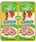 Inaba Dog Twin Pouch Jelly Chicken with Leg Meat & Veggies 80g Dog Treats TW03