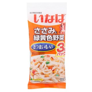 Inaba Dog Chicken, Potato, Vegetables 60g x 3 Dog Wet Food (QDR21)