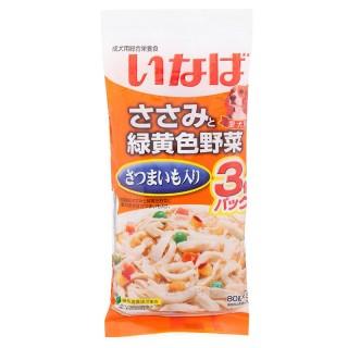 Inaba Dog Chicken, Potato, Vegetables 60g x 3 Dog Wet Food QDR21