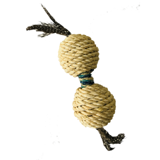 Hagen Sisal Dumbbell with Feather Cat Toy CT-07