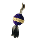 Hagen Crazy Claws Sisal Rope BALL with Feather Cat Toy CT-09