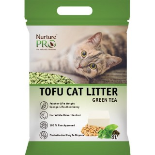 Nurture Pro Green Tea 6L Tofu Flushable Clumping Cat Litter