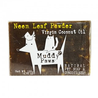Muddy Paws Neem Leaf Powder with Virgin Coconut Oil 135g Natural Pet Soap & Shampoo