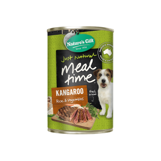 Nature's Gift Meal Time Kangaroo, Rice & Vegetables 700g Dog Wet Food