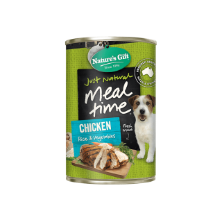 Nature's Gift Meal Time Veal, Turkey & Vegetables 380g Dog Wet Food