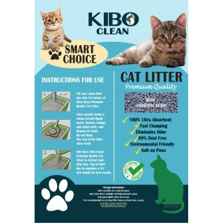 Kibo Clean Clumping Charcoal UNSCENTED 10L Cat Litter