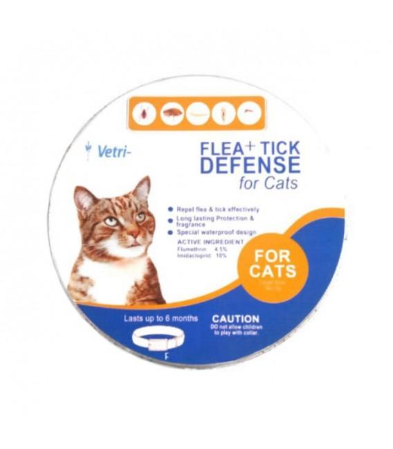VetriScience Laboratories Flea + Tick Defense Collar for Cats