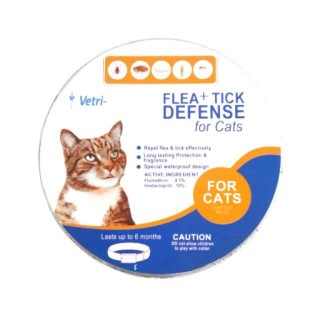 VetriScience Laboratories Flea + Tick Defense Collar for Cats