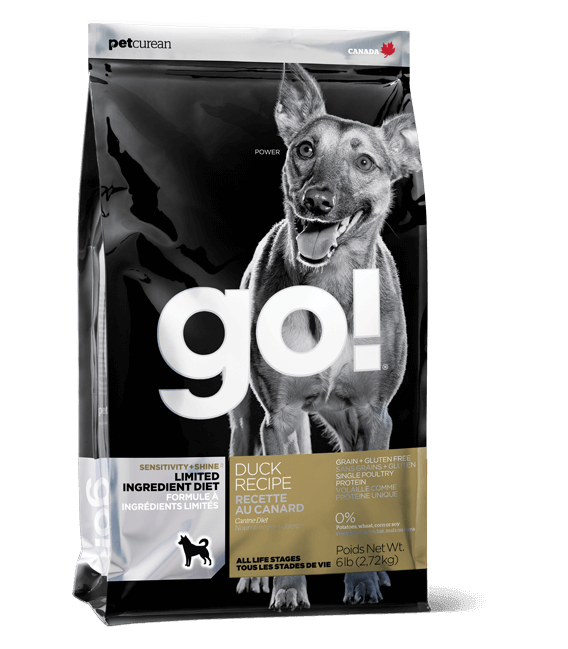 GO! Sensitivity + Shine Limited Ingredient Diet Duck Recipe Dog Dry Food