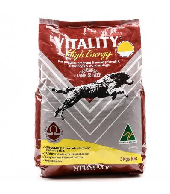 Vitality High Energy Lamb Beef Dog Dry Food Pet Warehouse